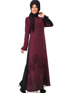 5015 Hurrem Baskili Bordo Ferace